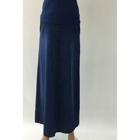 Trndy Trendy Hamile Uzun Kot Etek Mavi 42 Elbise, Tulum, Etek