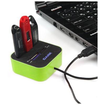 Dark DK-AC-UCR202GN USB 2.0 External 49 in 1 Kart Okuyucu Yeşil Çoklayıcı