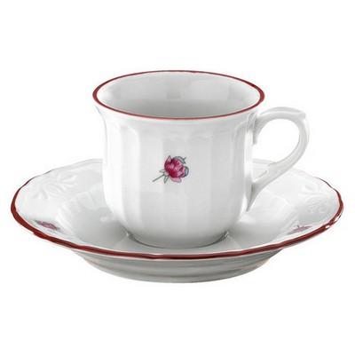 Kütahya Porselen Mina Pembe Kahve Takımı Çay Seti
