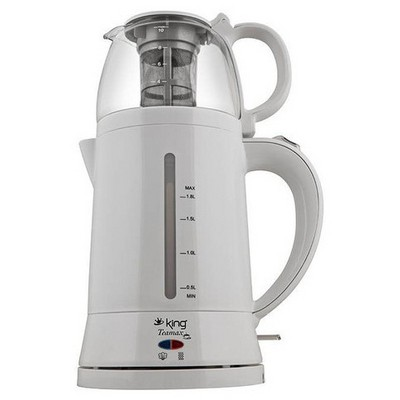 King K-8500 Teamax Beyaz Otomatik Çay Makinesi