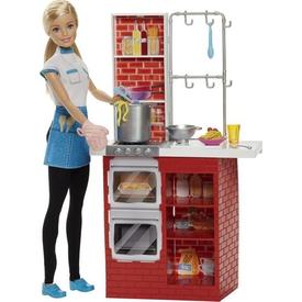 Barbie Makarna Şefi Ve Mutfak Oyun Seti Dmc36 Kız Çocuk Oyuncakları