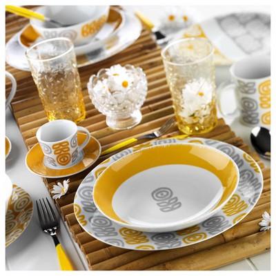 Kütahya Porselen 9129 Desen Kahve Fincanı Ve Tabağı Çay Seti