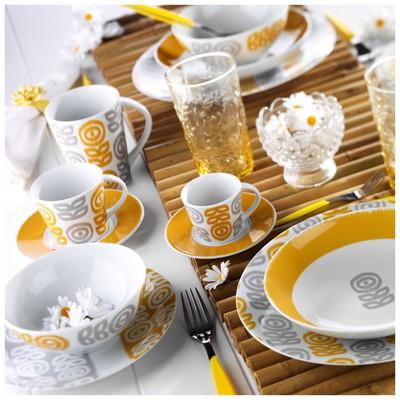 Kütahya Porselen 9129 Desen 24 Parça Yemek Seti Yemek Takımı