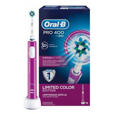 oral-b-pro-400-cross-action-mor-ozel-renk-serisi-sarjli-dis-fircasi