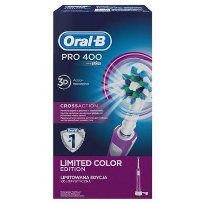 Oral-B Pro 400 Cross Action Şarjlı Diş Fırçası Mor