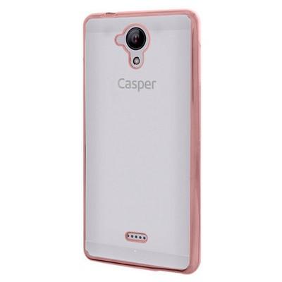 Microsonic Casper Via E1 Kılıf Flexi Delux Rose Gold Cep Telefonu Kılıfı
