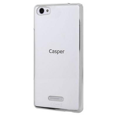 Microsonic Casper Via M1 Kılıf Flexi Delux Gümüş Cep Telefonu Kılıfı