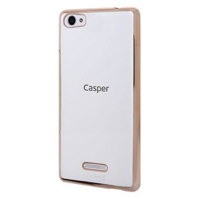 Microsonic Casper Via M1 Kılıf Flexi Delux Gold Cep Telefonu Kılıfı