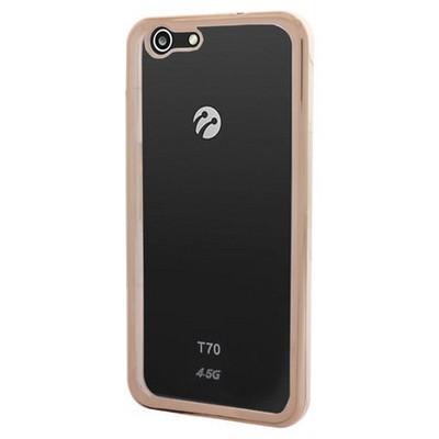 Microsonic Turkcell T70 Kılıf Flexi Delux Gold Cep Telefonu Kılıfı