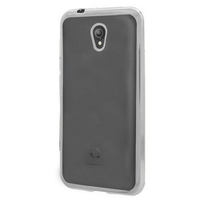 Microsonic Vodafone Smart Style 7 Kılıf Flexi Delux Gümüş Cep Telefonu Kılıfı