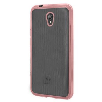 Microsonic Vodafone Smart Style 7 Kılıf Flexi Delux Rose Gold Cep Telefonu Kılıfı