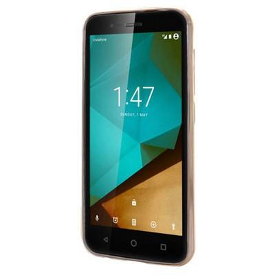 Microsonic Vodafone Smart Style 7 Kılıf Flexi Delux Gold Cep Telefonu Kılıfı