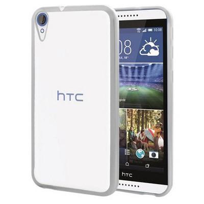 Microsonic Htc Desire 830 Kılıf Flexi Delux Rose Gümüş Cep Telefonu Kılıfı