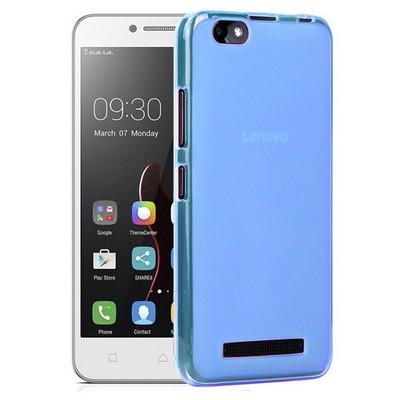 Microsonic Lenovo Vibe C Kılıf Transparent Soft Mavi Cep Telefonu Kılıfı
