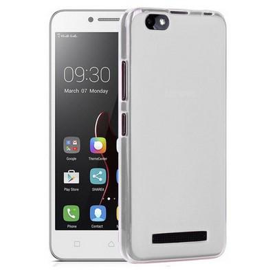 Microsonic Lenovo Vibe C Kılıf Transparent Soft Beyaz Cep Telefonu Kılıfı