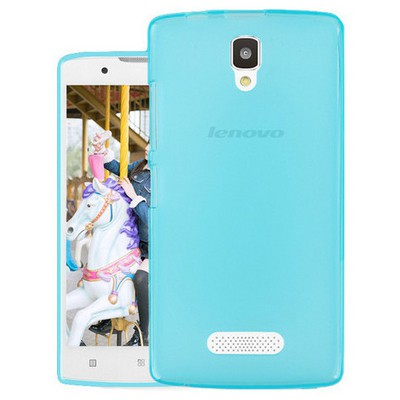Microsonic Lenovo A2010 Kılıf Transparent Soft Mavi Cep Telefonu Kılıfı