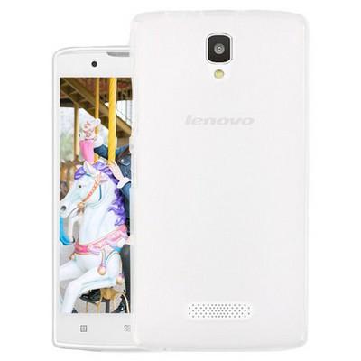Microsonic Lenovo A2010 Kılıf Transparent Soft Beyaz Cep Telefonu Kılıfı