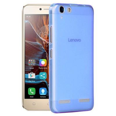 Microsonic Lenovo K5 Kılıf Transparent Soft Mavi Cep Telefonu Kılıfı