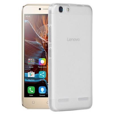 Microsonic Lenovo K5 Kılıf Transparent Soft Beyaz Cep Telefonu Kılıfı