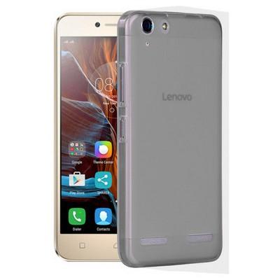 Microsonic Lenovo K5 Kılıf Transparent Soft Siyah Cep Telefonu Kılıfı