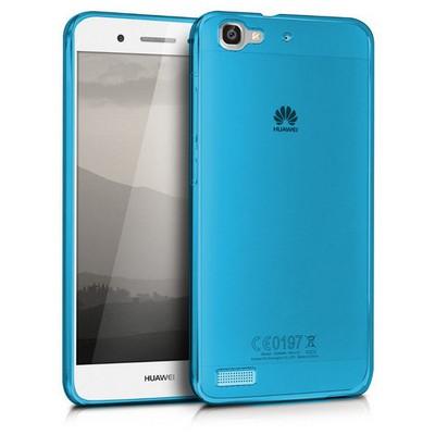 Microsonic Huawei Gr3 Kılıf Transparent Soft Mavi Cep Telefonu Kılıfı