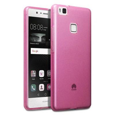 Microsonic Huawei P9 Lite Kılıf Transparent Soft Pembe Cep Telefonu Kılıfı