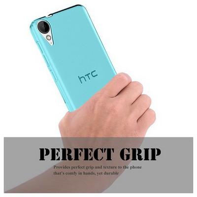 Microsonic Htc Desire 825 Kılıf Transparent Soft Mavi Cep Telefonu Kılıfı