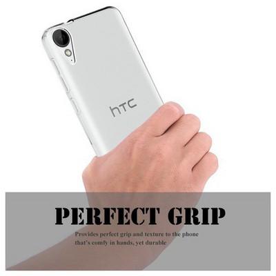 Microsonic Htc Desire 825 Kılıf Transparent Soft Beyaz Cep Telefonu Kılıfı