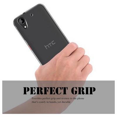 Microsonic Htc Desire 530 Kılıf Transparent Soft Beyaz Cep Telefonu Kılıfı