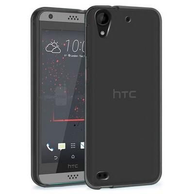 Microsonic Htc Desire 530 Kılıf Transparent Soft Siyah Cep Telefonu Kılıfı