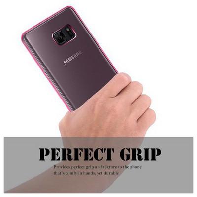 Microsonic Samsung Galaxy Note 7 Kılıf Transparent Soft Pembe Cep Telefonu Kılıfı
