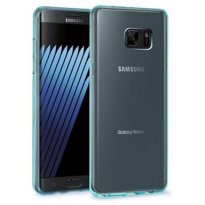 Microsonic Samsung Galaxy Note 7 Kılıf Transparent Soft Mavi Cep Telefonu Kılıfı