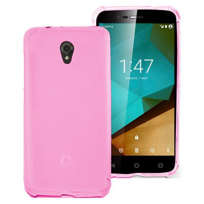 Microsonic Vodafone Smart Style 7 Kılıf Transparent Soft Pembe Cep Telefonu Kılıfı
