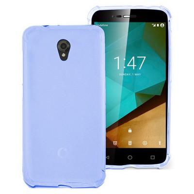 Microsonic Vodafone Smart Style 7 Kılıf Transparent Soft Mavi Cep Telefonu Kılıfı