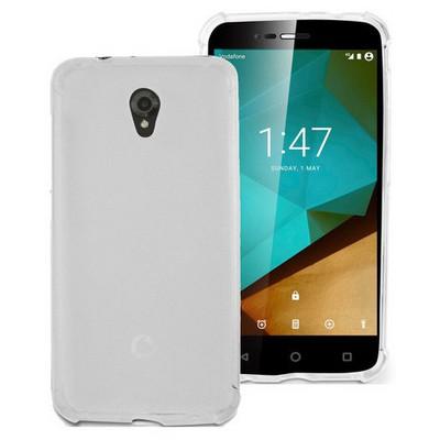 Microsonic Vodafone Smart Style 7 Kılıf Transparent Soft Beyaz Cep Telefonu Kılıfı