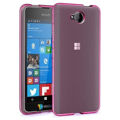 Microsonic Microsoft Lumia 650 Kılıf Transparent Soft Pembe Cep Telefonu Kılıfı