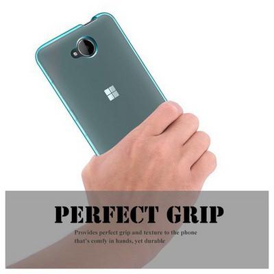 Microsonic Microsoft Lumia 650 Kılıf Transparent Soft Mavi Cep Telefonu Kılıfı