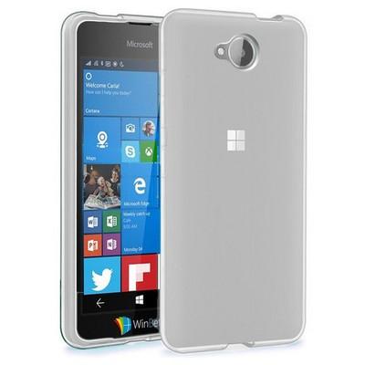 Microsonic Microsoft Lumia 650 Kılıf Transparent Soft Beyaz Cep Telefonu Kılıfı