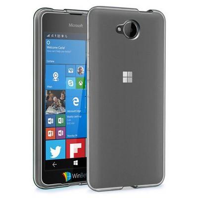Microsonic Microsoft Lumia 650 Kılıf Transparent Soft Siyah Cep Telefonu Kılıfı