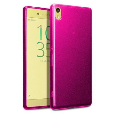 Microsonic Sony Xperia Xa Ultra Kılıf Transparent Soft Pembe Cep Telefonu Kılıfı