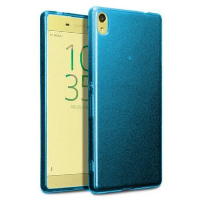 Microsonic Sony Xperia Xa Ultra Kılıf Transparent Soft Mavi Cep Telefonu Kılıfı