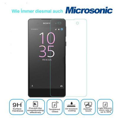 Microsonic Sony Xperia E5 Temperli Cam Ekran Koruyucu Kırılmaz Film Ekran Koruyucu Film