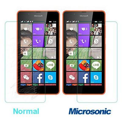 Microsonic Microsoft Lumia 540 Temperli Cam Ekran Koruyucu Kırılmaz Film Ekran Koruyucu Film