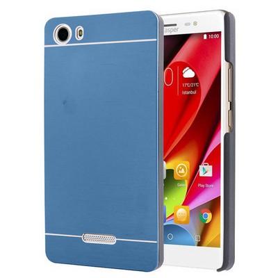 Microsonic Casper Via M1 Kılıf Hybrid Metal Mavi Cep Telefonu Kılıfı