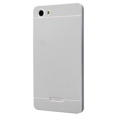 Microsonic Casper Via M1 Kılıf Hybrid Metal Gümüş Cep Telefonu Kılıfı