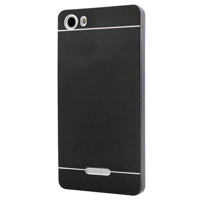 Microsonic Casper Via M1 Kılıf Hybrid Metal Siyah Cep Telefonu Kılıfı
