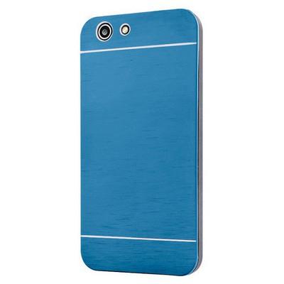 Microsonic Turkcell T70 Kılıf Hybrid Metal Mavi Cep Telefonu Kılıfı