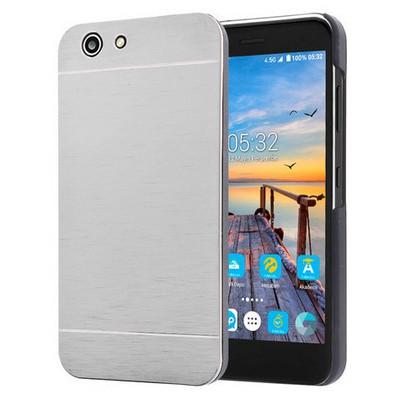 Microsonic Turkcell T70 Kılıf Hybrid Metal Gümüş Cep Telefonu Kılıfı