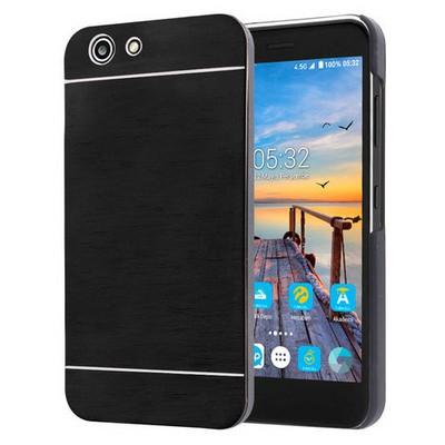 Microsonic Turkcell T70 Kılıf Hybrid Metal Siyah Cep Telefonu Kılıfı