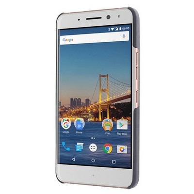 Microsonic General Mobile Gm5 Plus Kılıf Hybrid Metal Mavi Cep Telefonu Kılıfı